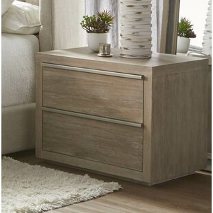 Oscoda 2 Drawer Nightstand