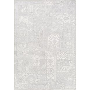 Bargain Pickrell Light Gray/White Area Rug ByOne Allium Way