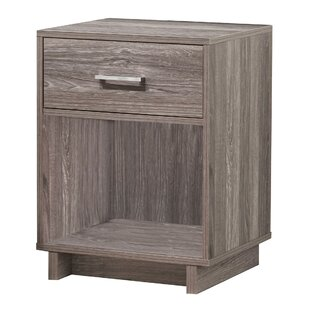 Chicopee Wood 1 Drawer Nightstand