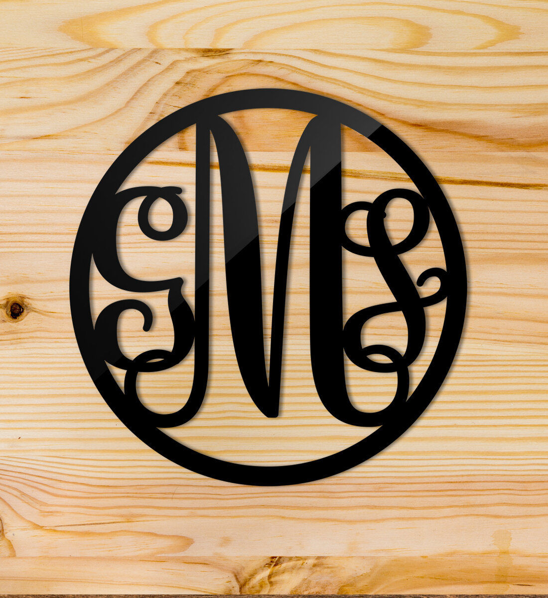 Amazing Monogram Metal Wall Decor Adornment - The Wall Art ...