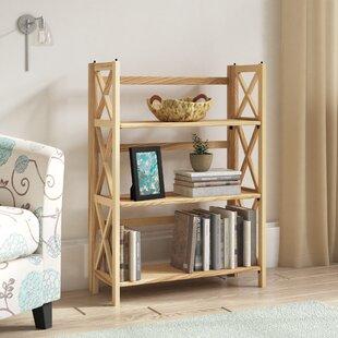 Three Posts Northumberland 3-Shelf Folding Etagere Bookcase