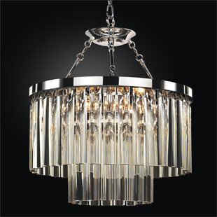 Glow Lighting Wind Chime 6-Light Chandelier