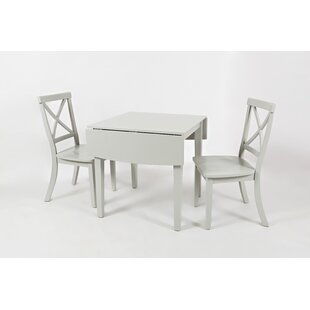 Dunster 3 Piece Solid Wood Dining Set Alcott Hill