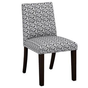 Venne Ink Button Tapered Parsons Chair by Brayden Studio