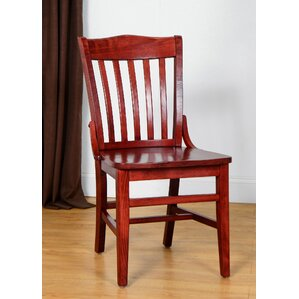 Schoolhouse Solid Wood Dining Chair  Set of 4 Mahogany Kitchen   Dining Chairs You ll Love   Wayfair. Schoolhouse Dining Chairs. Home Design Ideas