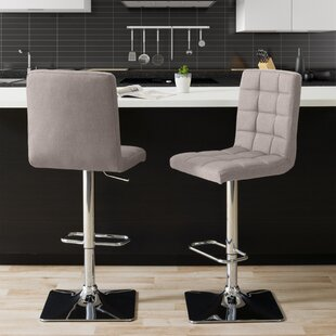 Dostie Adjustable Height Swivel Bar Stool (Set of 2) Brayden Studio