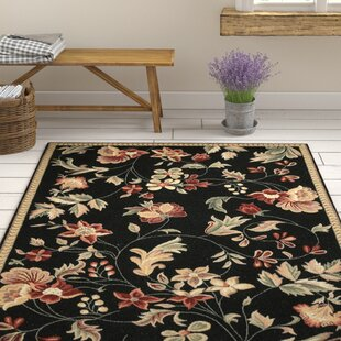 Lavelle Wool Black Area Rug by August Grove