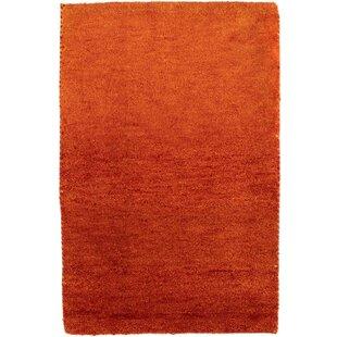 Zephyr Handwoven Wool Orange/Red Indoor/Outdoor Rug By Ebern Designs