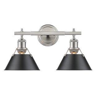Bathroom vanity lighting weatherford 2 light vanity light mozeypictures Image collections