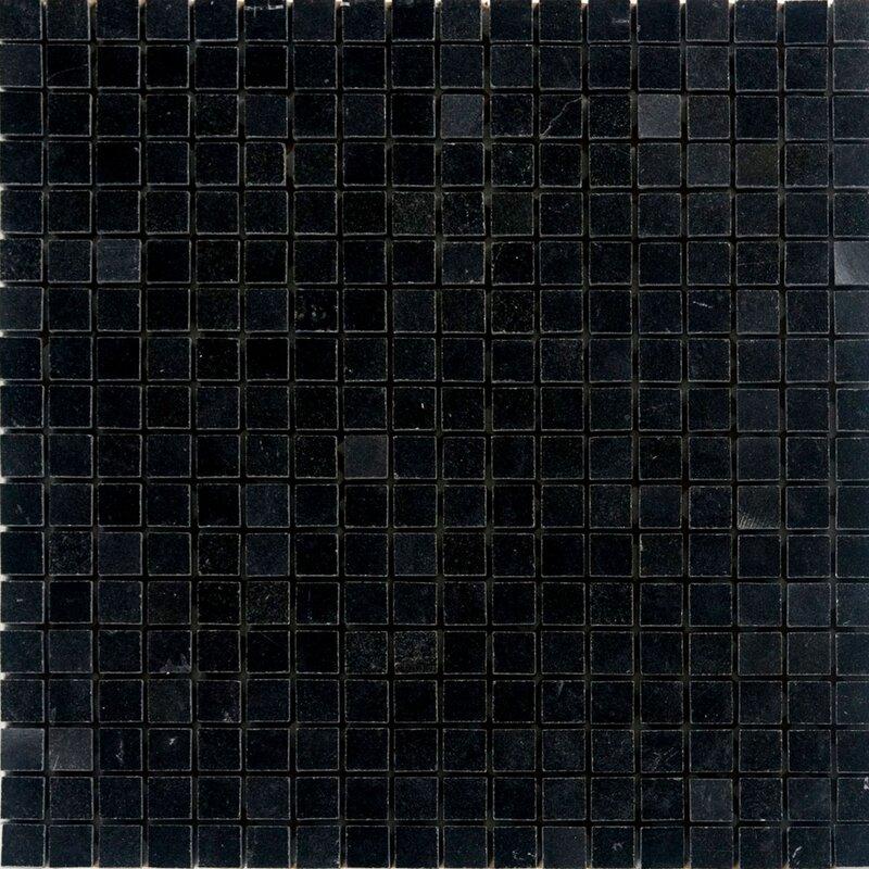 0 63 X Granite Mosaic Tile In Absolute Black