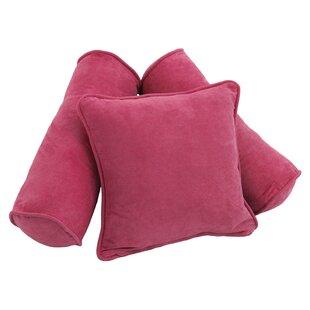 Coova 3 Piece Microsuede Pillow Set