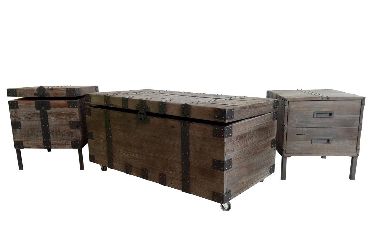 Claude 3 Piece Coffee Table Trunk Set  sc 1 st  Joss \u0026 Main & Claude 3 Piece Coffee Table Trunk Set \u0026 Reviews | Joss \u0026 Main