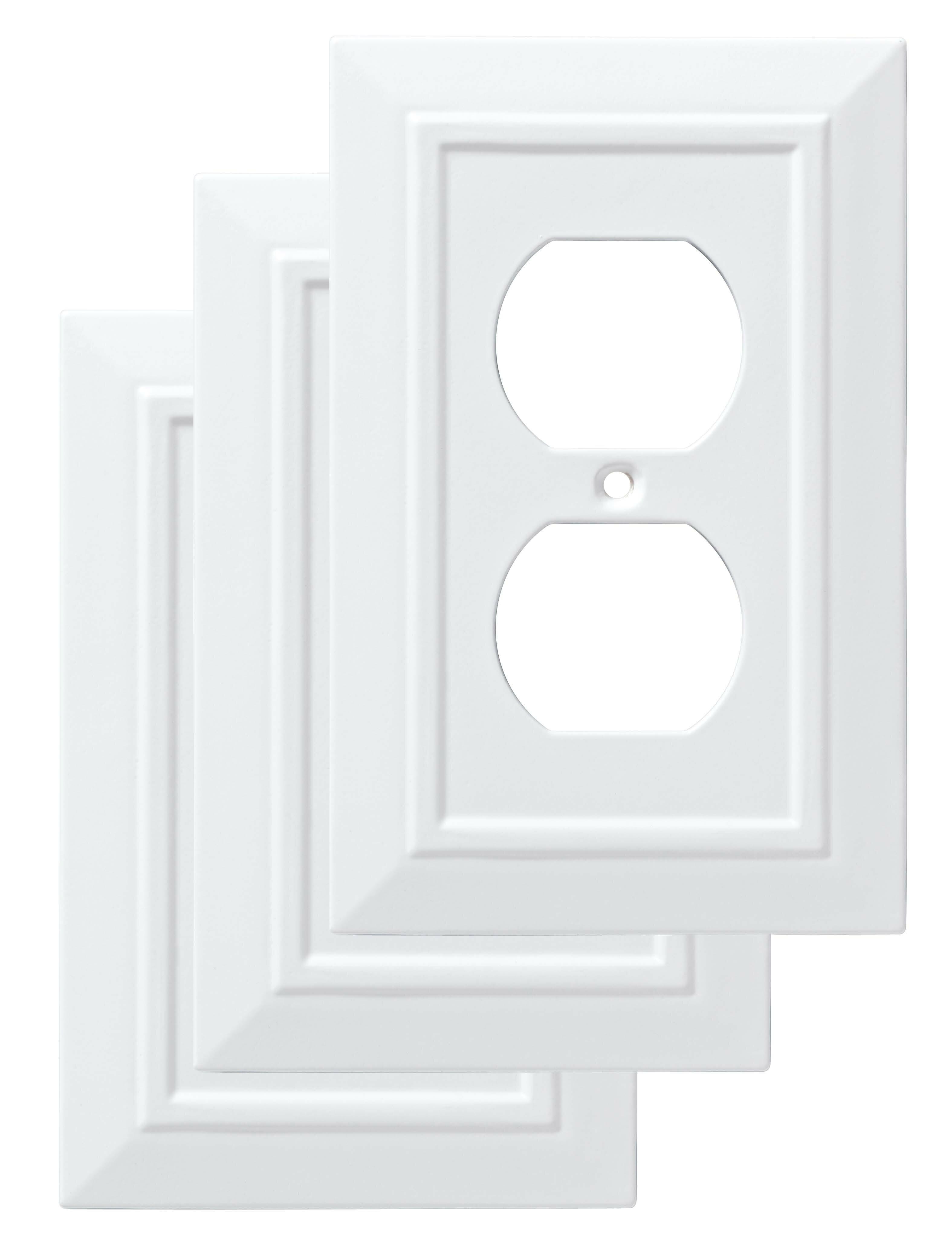 Franklin Brass Classic Architecture 1 Gang Duplex Outlet Wall Plate Reviews Wayfair