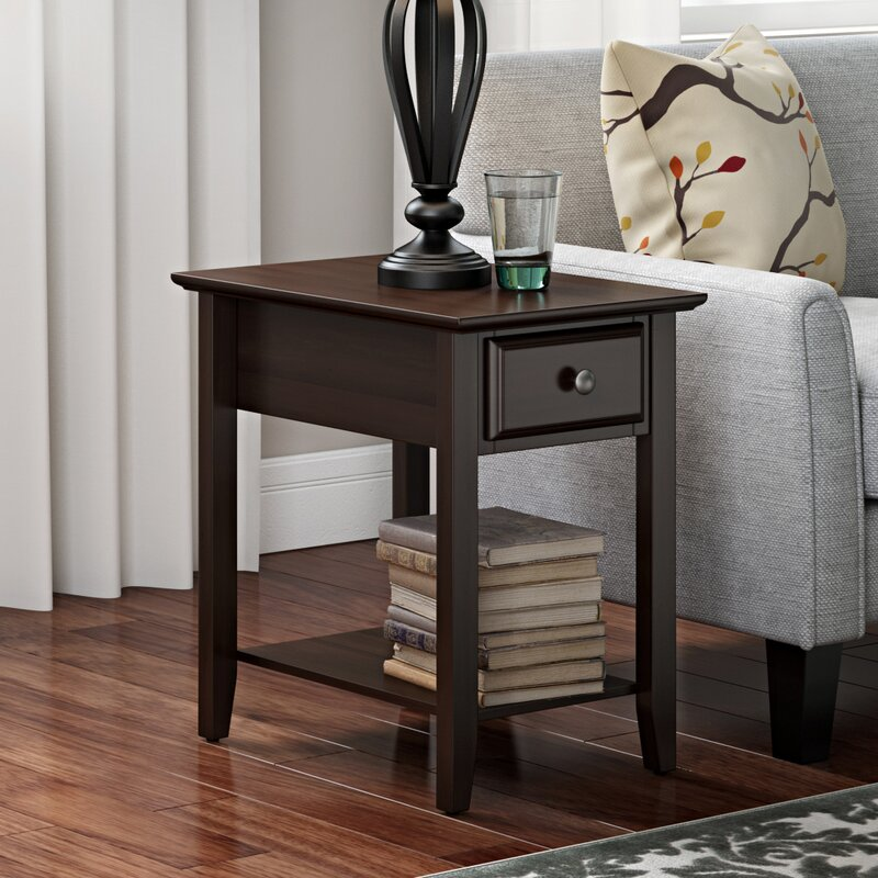 Superb Hadley End Table With Storage