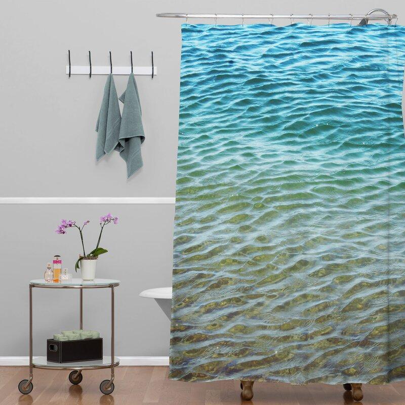 Shannon Clark Ombre Sea Shower Curtain from Wayfair!