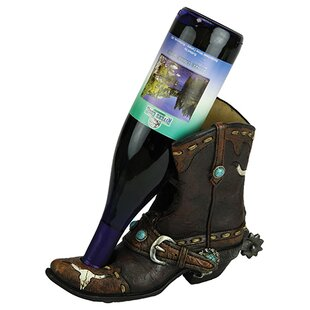Beam Cowboy Boot 1 Bottle Tabletop Wine R..