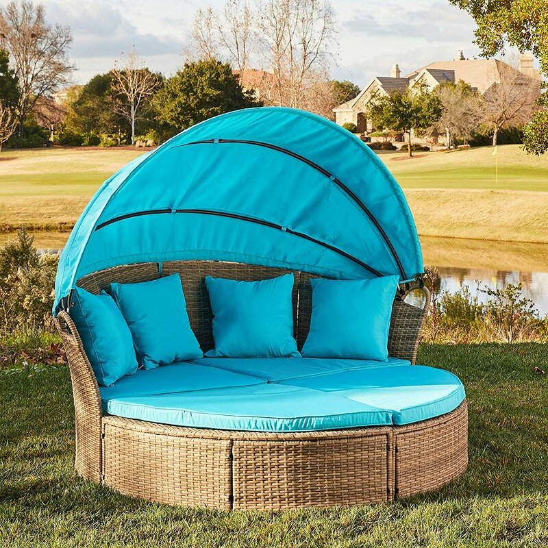 Bay Isle Home Gallo Patio Daybed with Cushions