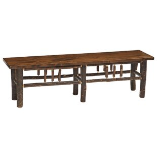 Hickory Wood Bench