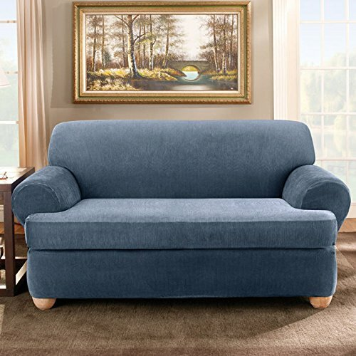 default_name - Sure Fit Stretch Stripe T-Cushion Sofa Slipcover & Reviews Wayfair