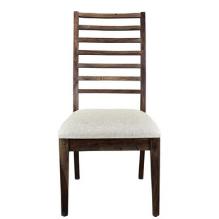 Gracie Oaks Ladd Solid Wood Upholstered Dining Chair (Set of 2)
