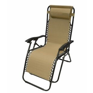 Kaylin Outdoor Reclining Zero Gravity Chair with Cushion