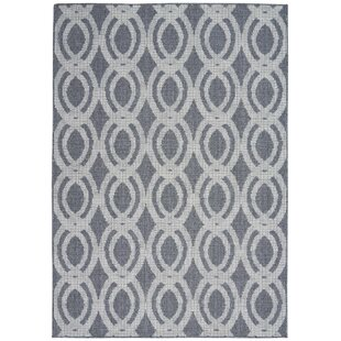 Lawanda Trellis Slate Gray Indoor/Outdoor Area Rug