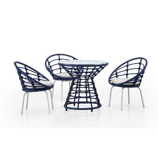Brayden Studio Siu 4 Piece Dining Set with Cushions