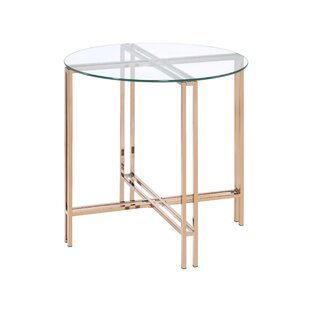Otavio Glass Top End Table by Mercer41
