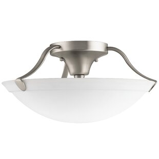 Ervin 3-Light Semi Flush Mount by Red Barrel Studio