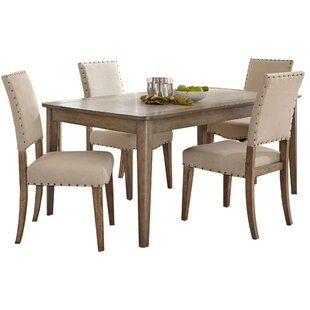 Crisp 5 Piece Dining Set Three Posts