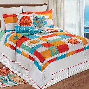 Charlotte Cotton Reversible Quilt Set