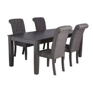 Charlotte 5 Piece Solid Wood Dining Set by TTP Furnish