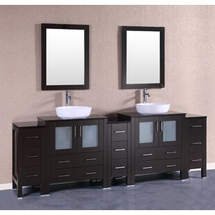 Royal 96 Double Bathroom Vanity Set with Mirror by Bosconi