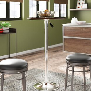 Brabham Adjustable Height Pub Table Orren Ellis