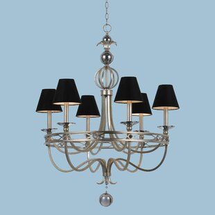 AF Lighting 6-Light Shaded Chandelier