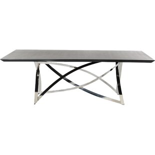 Orren Ellis Camron Steel Base Dining Table