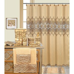 beige and brown shower curtain. Decorative Shower Curtain Brown Curtains You ll Love  Wayfair