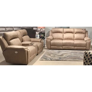 Silver Screen 2 Piece Leather Living Room..