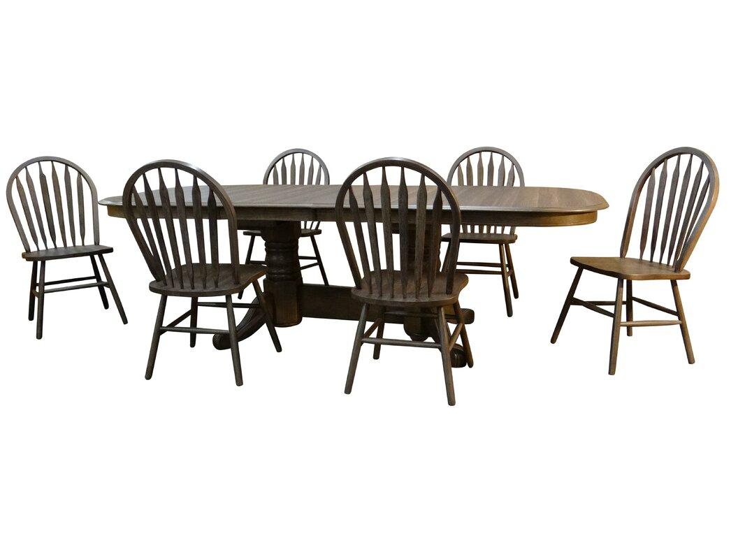 Canora Grey Adah 7 - Piece Extendable Dining Set