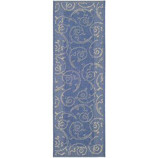 Alberty Blue Indoor/Outdoor Area Rug