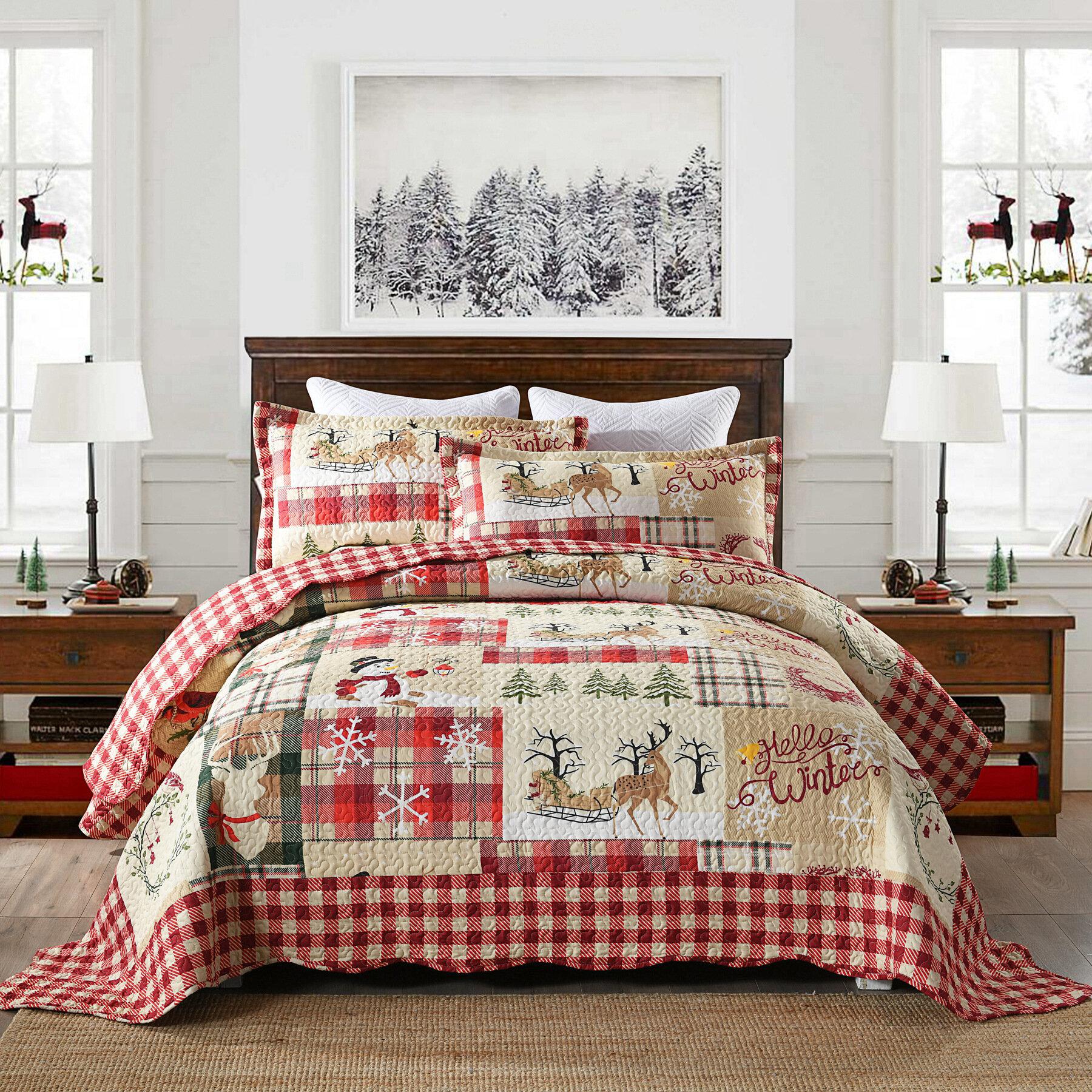 The Holiday Aisle Shoshana Reversible Quilt Set Reviews Wayfair