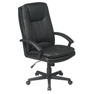 Office Star Products Work Smart High-Back Leather Executive Chair