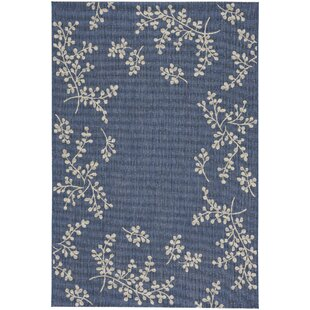Jacqueline Winterberry Blue Indoor/Outdoor Area Rug