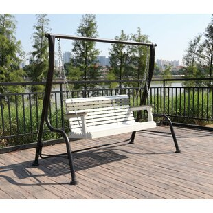 Freeport Park Orrwell Composite Wood Outdoor Porch Swing
