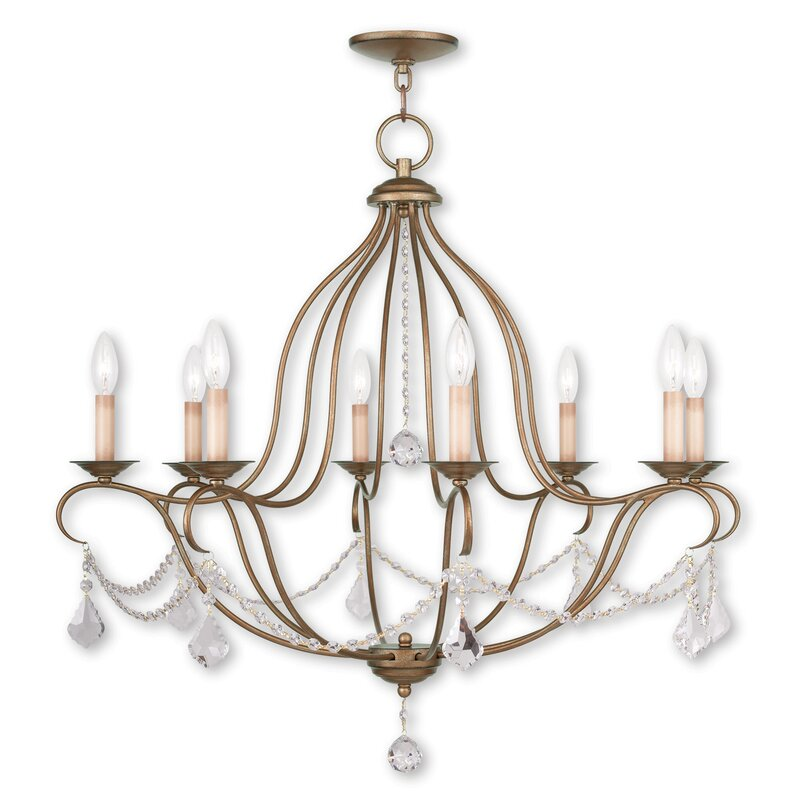 Astoria Grand Bayfront 8 Light Candle Style Empire Chandelier With Crystal Accents Accents Reviews Wayfair