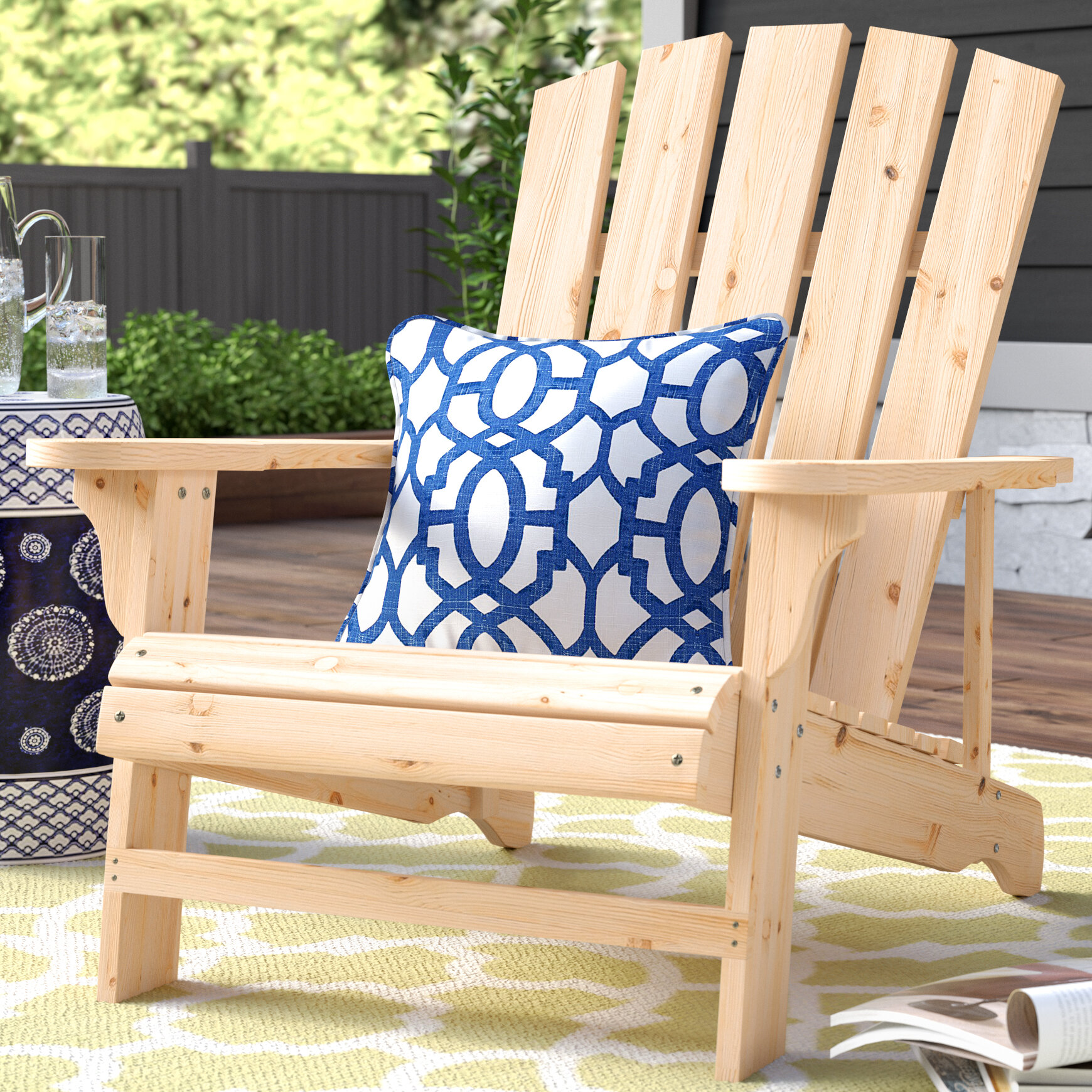 Charlton Home Allard Falls Solid Wood Adirondack Chair U0026 Reviews | Wayfair