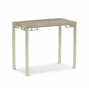 Travertine End Table By Caracole Modern