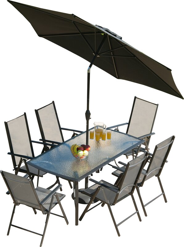 Capri 8 Piece Dining Set - SunTime Outdoor Living Capri 8 Piece Dining Set & Reviews Wayfair