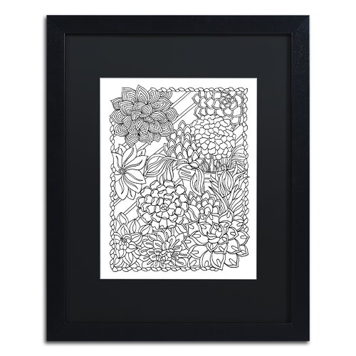 Trademark Art Mixed Coloring Book 47 By Kathy G Ahrens Framed Graphic Art Wayfair