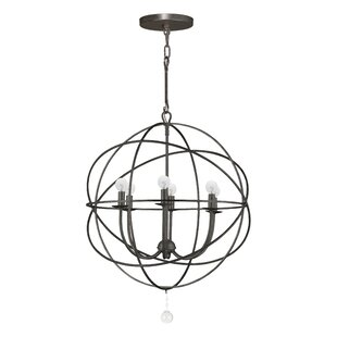 Willa Arlo Interiors Gregoire 6-Light Globe Chandelier